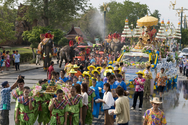 Songkran Festival in Phra Nakhon Si Ayutthaya